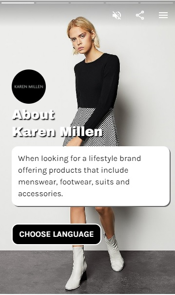 Karen Millen - Brand Web Stories - eCommerce Tools
